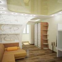 вариант светлого дизайна гостиной 19-20 кв.м фото