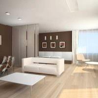 пример необычного интерьера гостиной комнаты в стиле минимализм картинка
