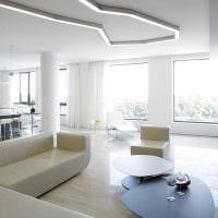 вариант яркого дизайна гостиной комнаты в стиле минимализм фото