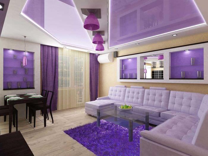 пример светлого интерьера современной квартиры 50 кв.м