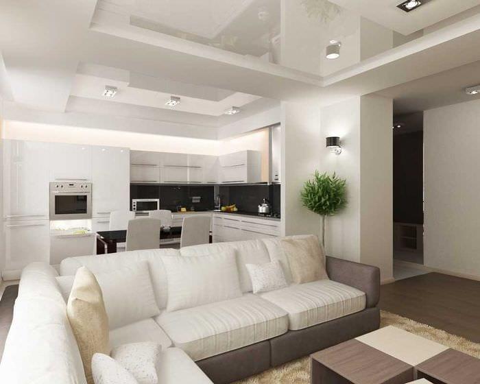 вариант яркого дизайна квартиры 65 кв.м
