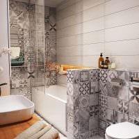 пример яркого интерьера ванной 5 кв.м фото