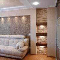 вариант светлого интерьера современной квартиры 50 кв.м картинка