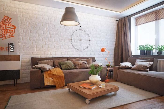 пример яркого дизайна гостиной комнаты 16 кв.м