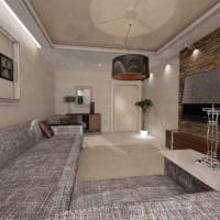 вариант яркого стиля гостиной комнаты 19-20 кв.м картинка