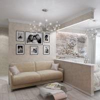 вариант красивого интерьера гостиной 16 кв.м фото