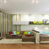 пример светлого интерьера гостиной 19-20 кв.м фото