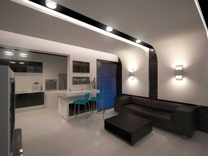 пример красивого стиля гостиной комнаты 25 кв.м
