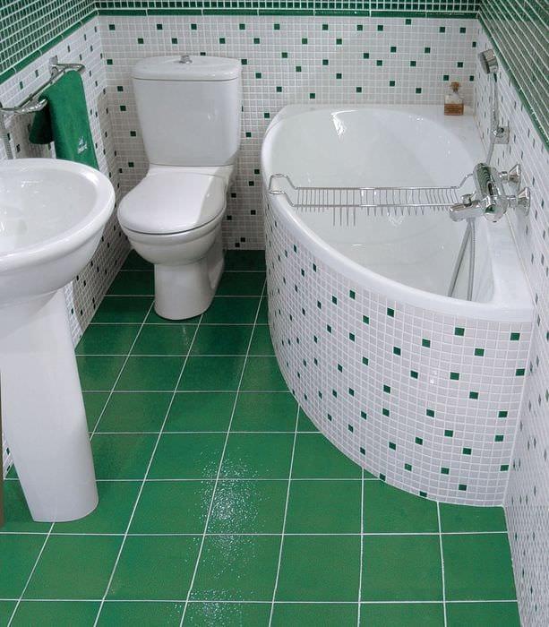 вариант красивого дизайна ванной 5 кв.м