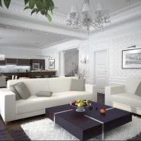 вариант светлого стиля гостиной 25 кв.м картинка
