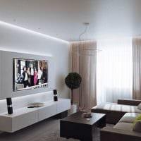пример светлого дизайна квартиры 50 кв.м фото