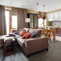 вариант красивого дизайна современной квартиры 65 кв.м картинка