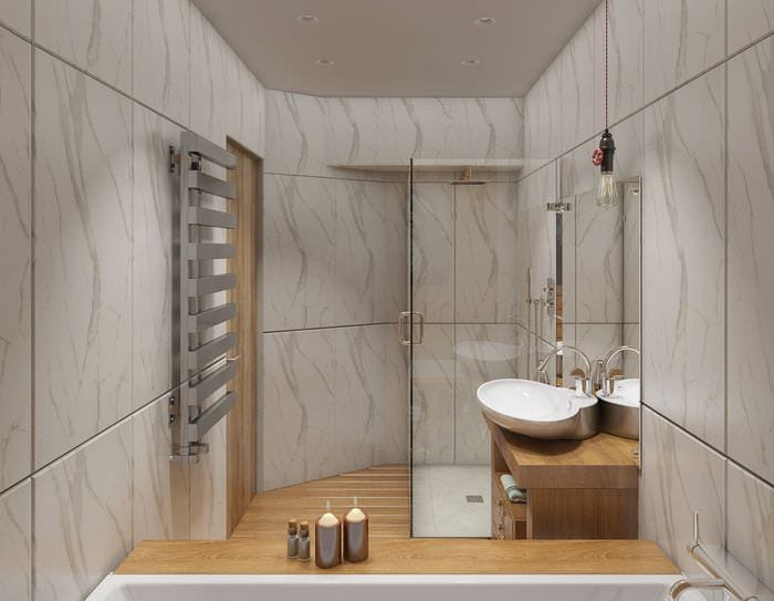 пример яркого стиля ванной комнаты 5 кв.м