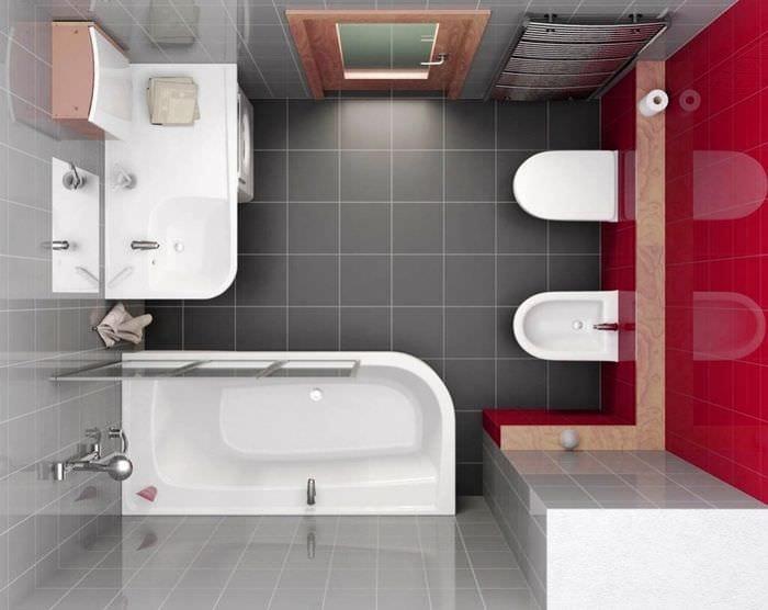Фото дизайна ванной комнаты 6 квм
