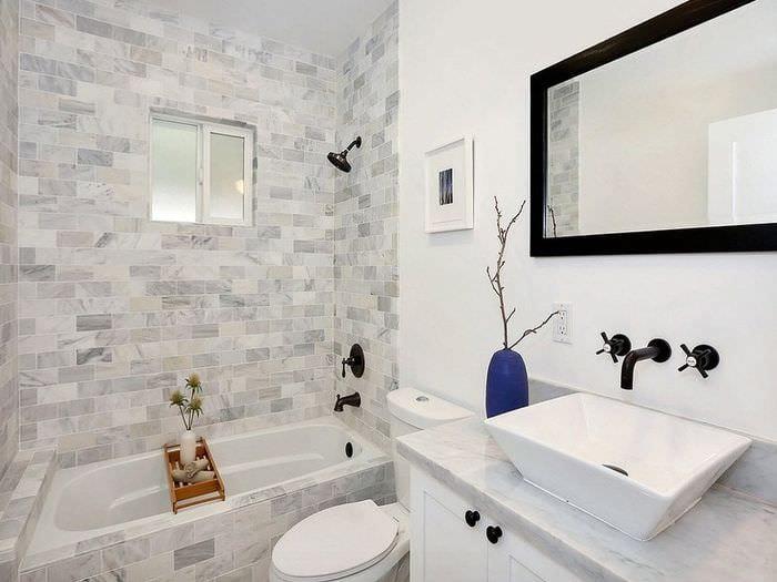 вариант красивого стиля ванной 5 кв.м