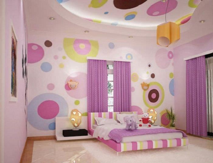 идея светлого интерьера детской комнаты для девочки
