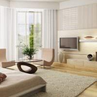 идея светлого интерьера комнаты в светлых тонах в современном стиле фото