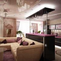 пример необычного декора квартиры 65 кв.м фото