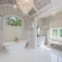 идея яркого дизайна ванной в классическом стиле фото