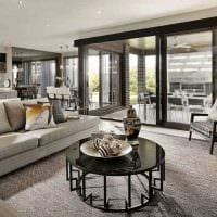 идея красивого декора зала в частном доме фото