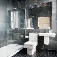 вариант красивого стиля большой ванной комнаты картинка