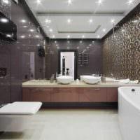идея современного интерьера большой ванной комнаты картинка