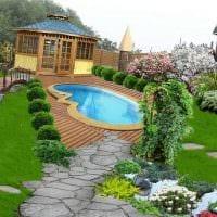 идея современного декорирования двора частного дома картинка