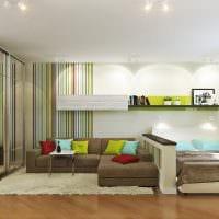 пример светлого стиля гостиной 16 кв.м фото