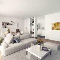 вариант красивого декора гостиной в стиле минимализм фото
