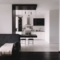 вариант необычного декора квартиры 50 кв.м фото