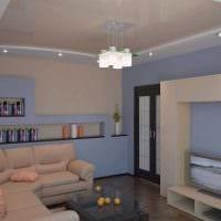 пример яркого дизайна современной квартиры 50 кв.м картинка