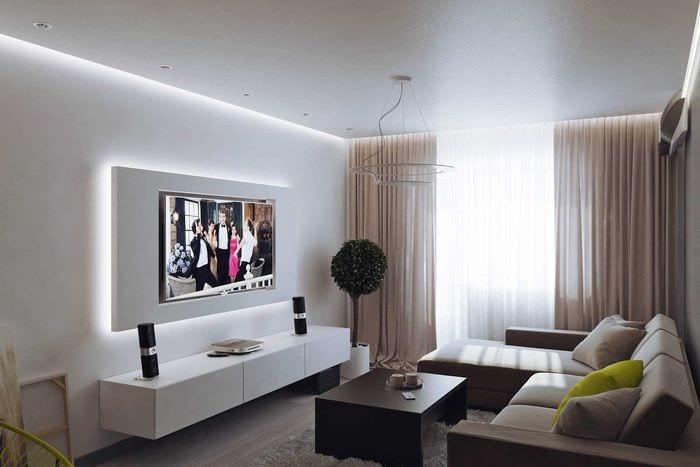 вариант красивого декора квартиры 50 кв.м