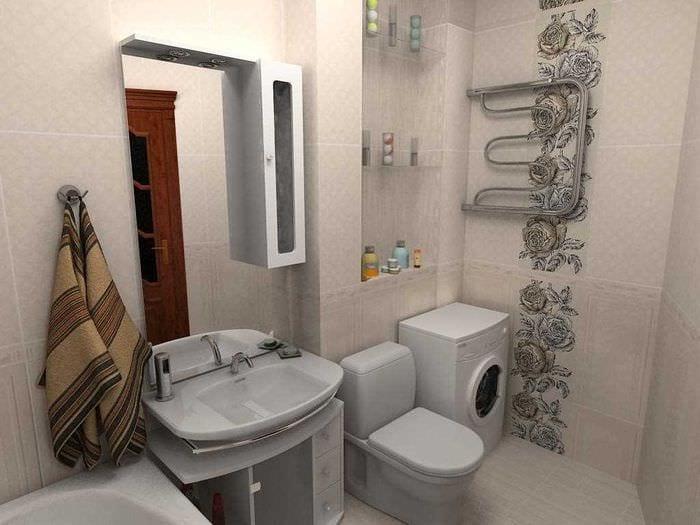 идея современного дизайна ванной комнаты 2.5 кв.м