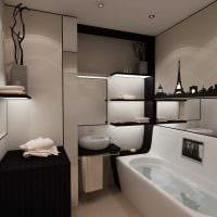 вариант современного стиля ванной 3 кв.м картинка