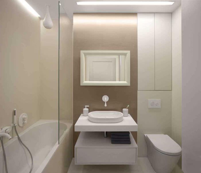 идея красивого стиля ванной 4 кв.м