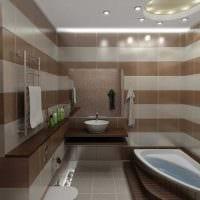 идея современного стиля ванной 6 кв.м картинка