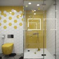 вариант яркого дизайна ванной комнаты 6 кв.м фото