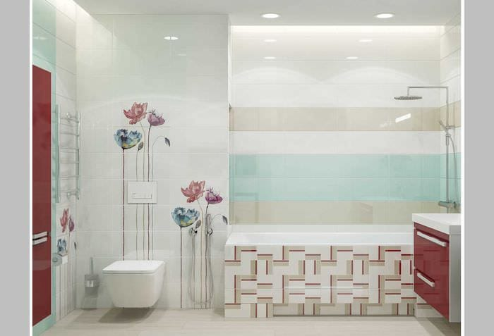 идея необычного интерьера ванной 2017