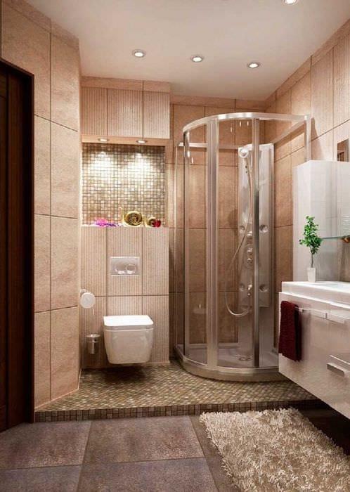 вариант необычного дизайна ванной комнаты 6 кв.м