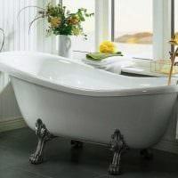 идея современного дизайна ванной с окном картинка