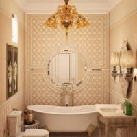 вариант красивого декора ванной комнаты в классическом стиле картинка