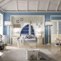 идея необычного стиля детской комнаты картинка