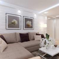 вариант светлого интерьера гостиной 19-20 кв.м картинка