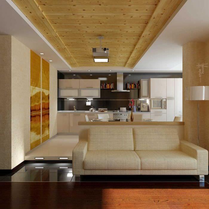 вариант красивого стиля гостиной 25 кв.м