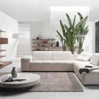 вариант яркого декора гостиной в стиле минимализм картинка