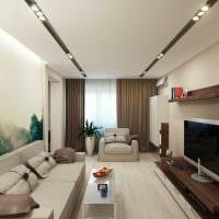 вариант яркого интерьера квартиры в светлых тонах в современном стиле фото