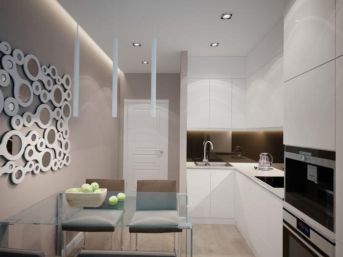 идея яркого декора квартиры в светлых тонах в современном стиле