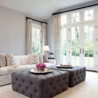 вариант необычного декора комнаты в стиле современная классика фото