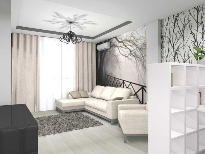 вариант светлого дизайна квартиры 70 кв.м