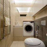 вариант красивого дизайна ванной комнаты 2017 фото